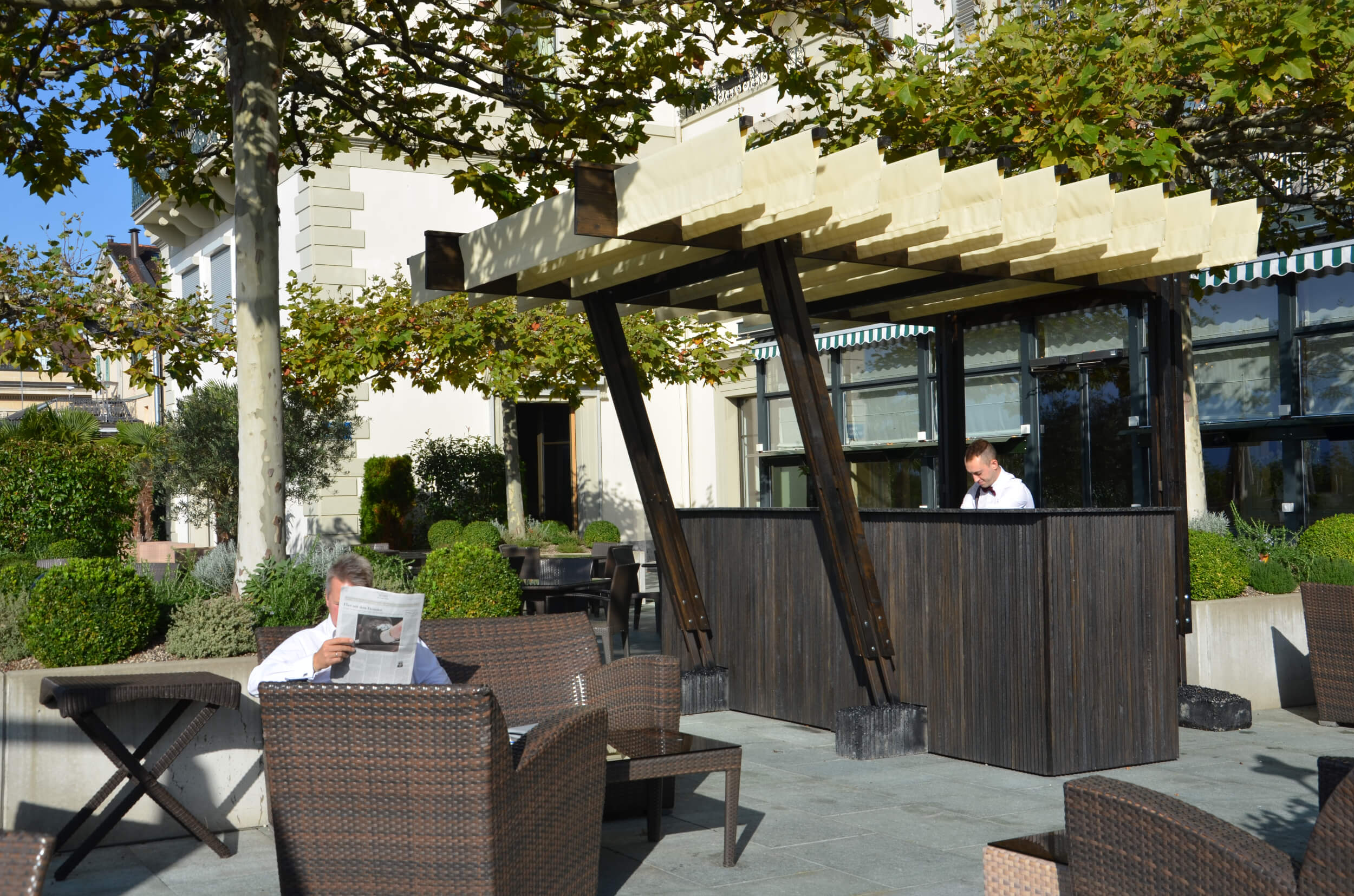 Architecture Pavilion in a hotel Switzerland