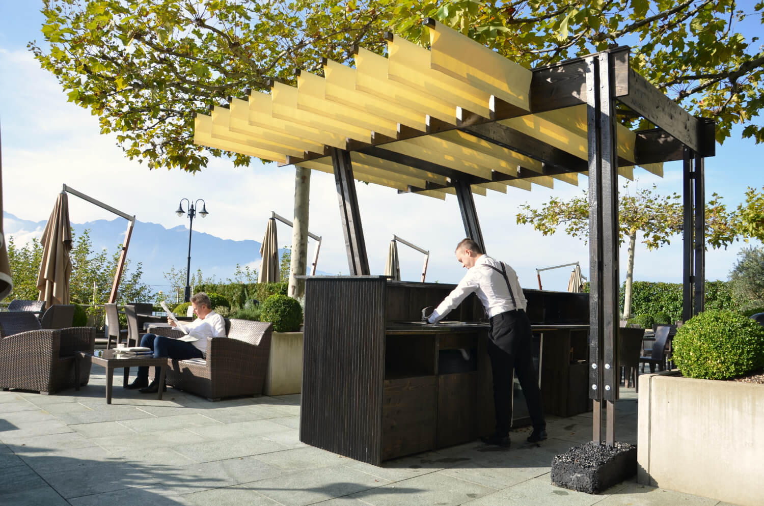 Pergola and pavilion are light structures made by Authos
