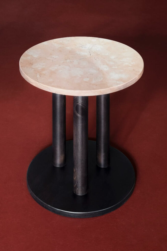 design of the bar coffee table made out of marble