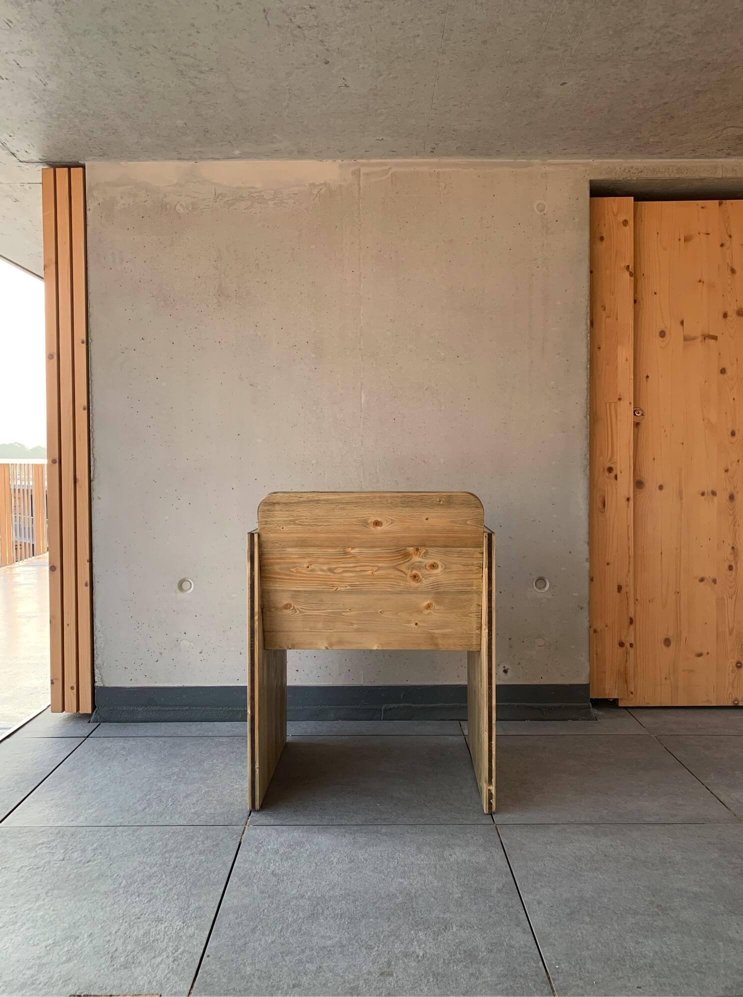 simple wooden natural furniture material