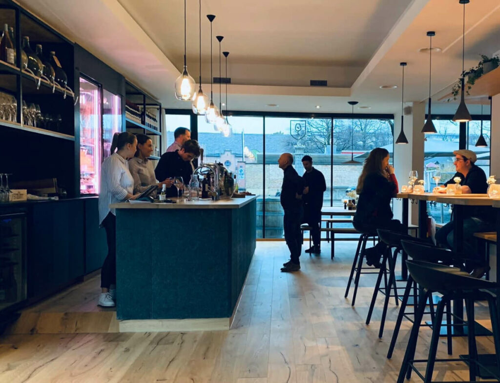 the interior design of the restaurant tacave in Basel is warm