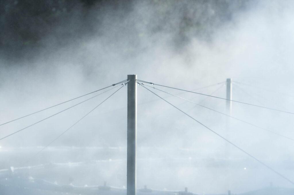 detail of mist